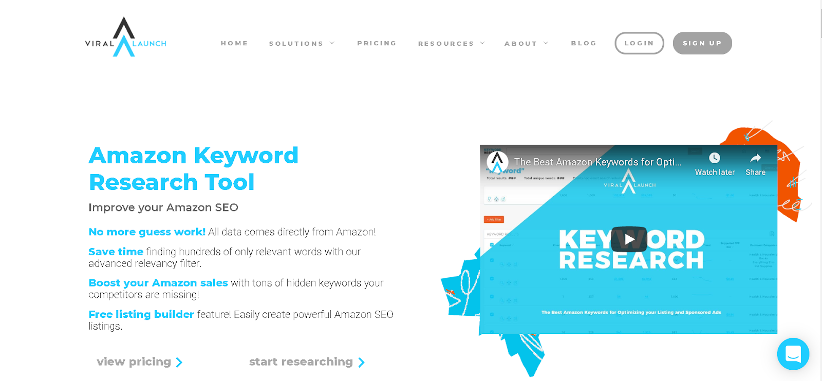 Amazon Keyword Tool 1 Keyword Research with Merchant Words by Viral Launch