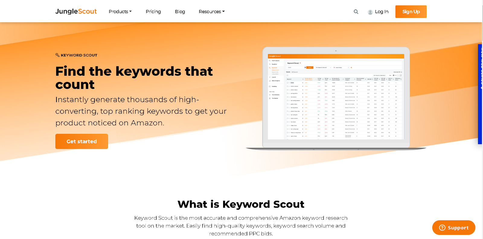 Keyword Scout Amazon Marketplace keyword research Jungle Scout