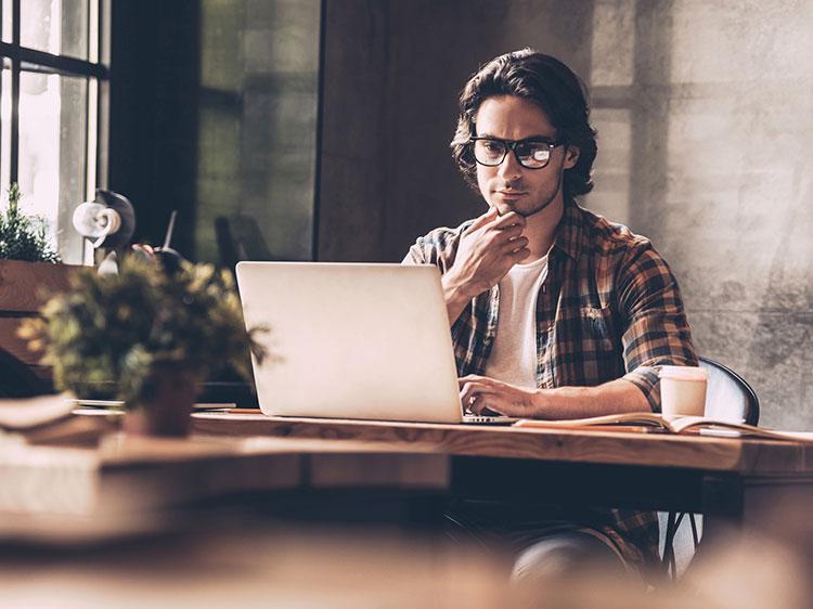 guy on a laptop